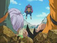 Goten i Trunks pobici i drwiący Avocado