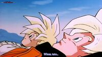 Goku i Gohan odpoczywają przed Cell Game