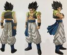 Grafika koncepcyjna Bazowego Gogety (Dragon Ball Super- Brolly)