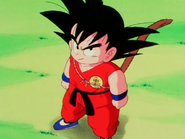 Son Goku podczas drugiej walki z Piccolo Daimao (DB, odc. 120)