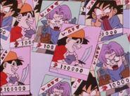 Goku Pan i Trunks na listach gończych (DBGT, odc. 005)