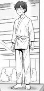 Senpai's judo attire
