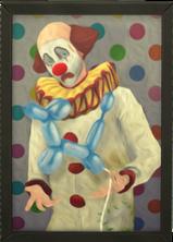 Obraz z klaunem