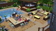 Perfekcyjne patio obraz