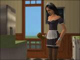 Claudia limpiando
