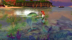 Syrena i delfin
