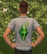 TS2OŻ Koszula z logo The Sims 3 Tył