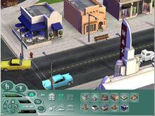 SimsVille Screen Interfejs