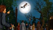 Wiedźma na tle księżyca