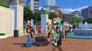 Miejskie życie - posąg