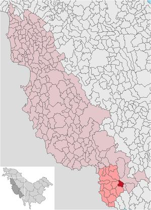 Localización de Cerele de Jos