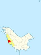 Localización 8ª prefectura en Pohlania