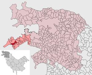 Localización de Calean-Valea Calieanei