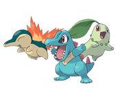 Pokémon iniciales de Johto