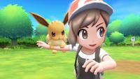 Pokémon Let's Go - Screenshot 02 - Evoli & Trainer