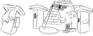 Boceto pre-sprite de Nosepass y Probopass (MerúM)