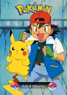 Pokemon card ash y pikachu