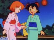 Ash and Misty yukata