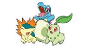 Johto Starters and Pokémon Egg