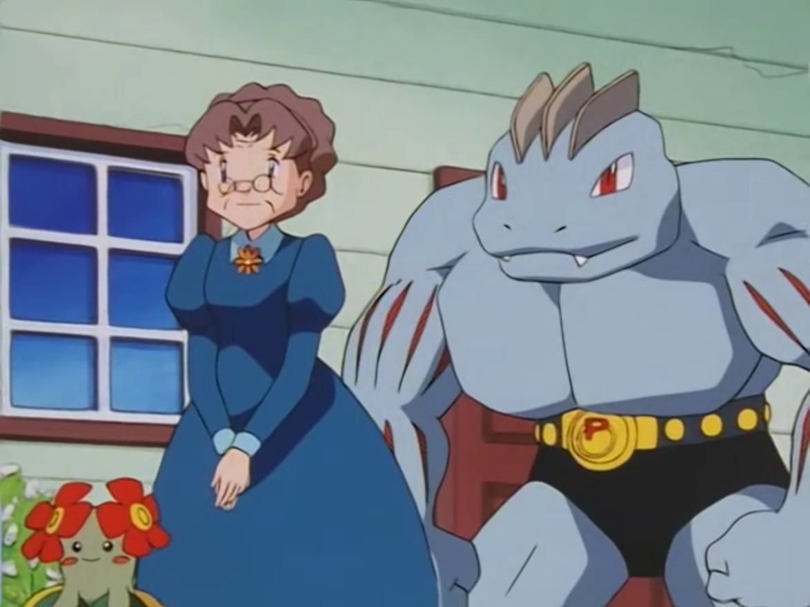 Haruno had a Machoke, who tended her garden.