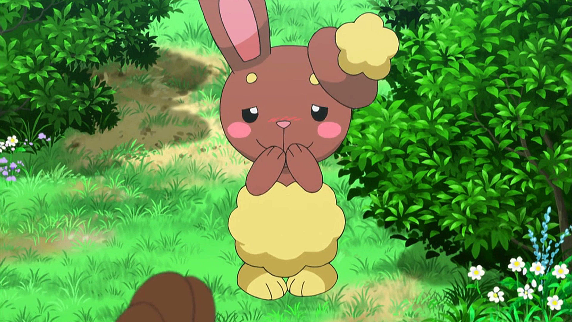 Lilia was accompanied by Buneary, who has a crush on Clemont's Bunnelby.