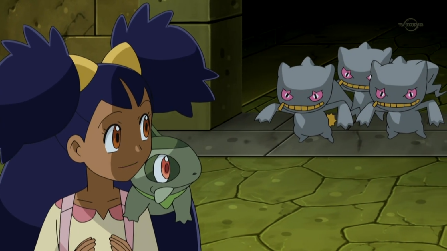 Conley fought and calmed down the three Banette, who are defenders of the arena.