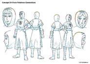 Pokémon Generations Concept Art Team Plasma Grunts