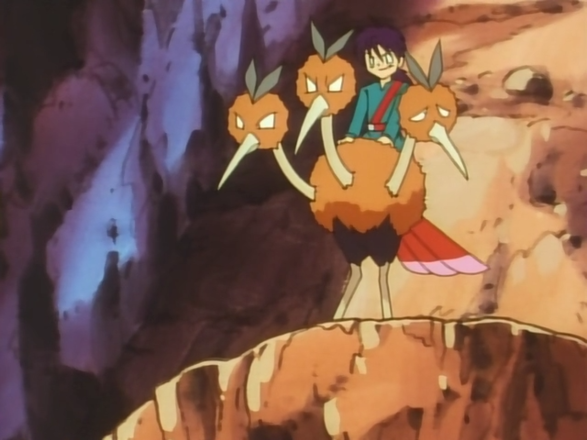 Dodrio was Dario's Pokémon for the race. It was really fast, but Rapidash won.