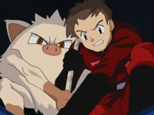 Jubei worked with his partner, Mankey, in an exercise.