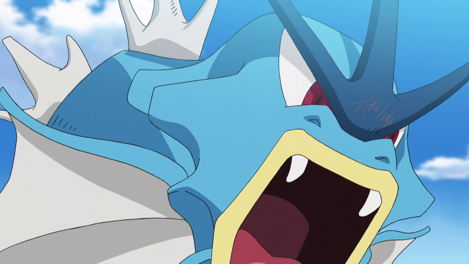 Jessie used Gyarados to prevent Ash and Goh from foiling Team Rocket's scheme to steal a group of wild Ivysaur and Bulbasaur. He was eventually defeated by Pikachu's Thunderbolt. Gyarados's known moves are Ice Fang, Aqua Tail, and Hyper Beam.