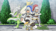 Ash and Goh in knight armor