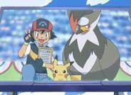 Ash and Staraptor