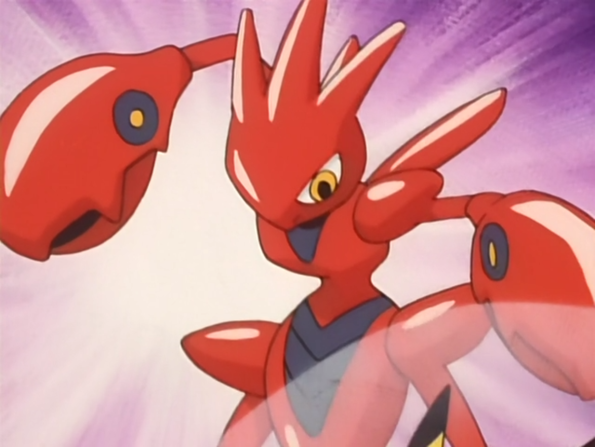 Muramasa had a Scizor, who scouted for good trainers to defeat Shingo.