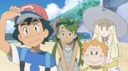Ash, Lillie, Mallow and Sophocles