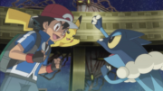Ash and Frogadier