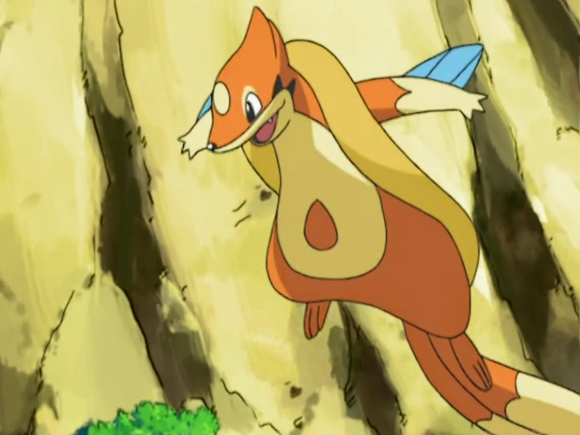 Kellyn captured a Floatzel to help him being able to swim quickly in the water.