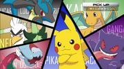 Ash Pikachu, Dragonite, Gengar, Lucario, Sirfetch'd and Dracovish