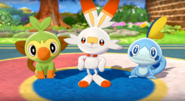 Pokemon Sword & Shield Sarters In Game