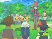 Francesca gets an applause from Ash and his friends