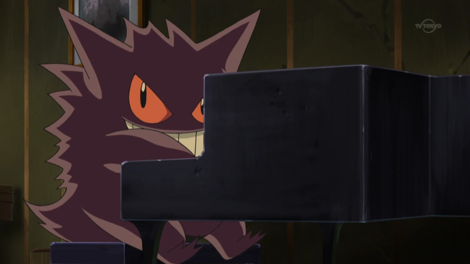"""Gengar is one of Lon's Pokémon that offers """"hospitality""""."""