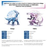 Pokémon Diamant Étincelant et Pokémon Perle Scintillante Pokémon Légendaires