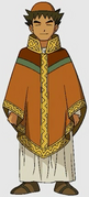 Brock in medieval attire