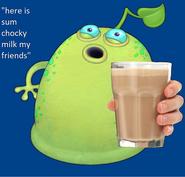 Here is sum chocky milk