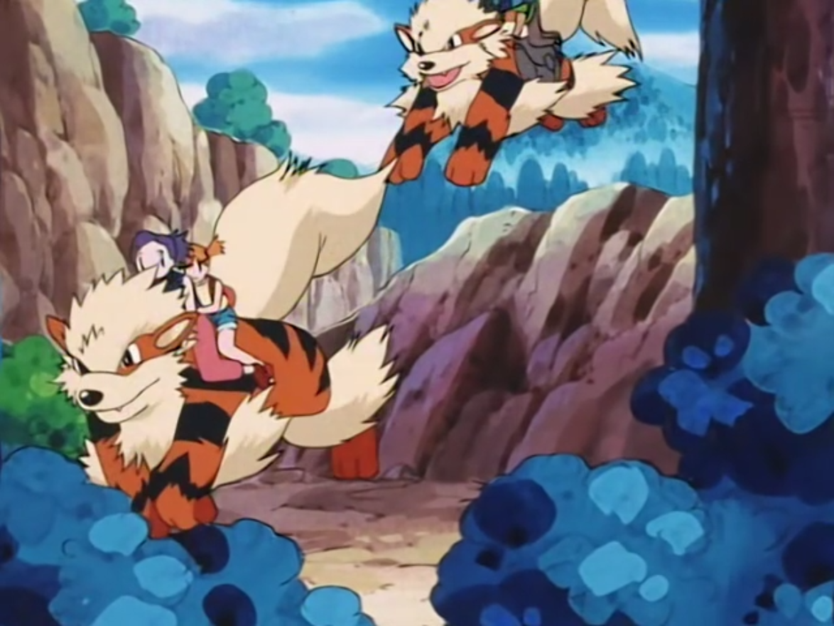 Ramona had a pair of Arcanine, who were used for transportation.