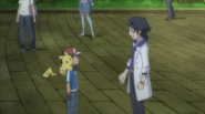 Ash and Professor Sycamore