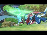 UK- Ash-Greninja versus Mega Charizard X! - Pokémon the Series- XYZ - Official Clip