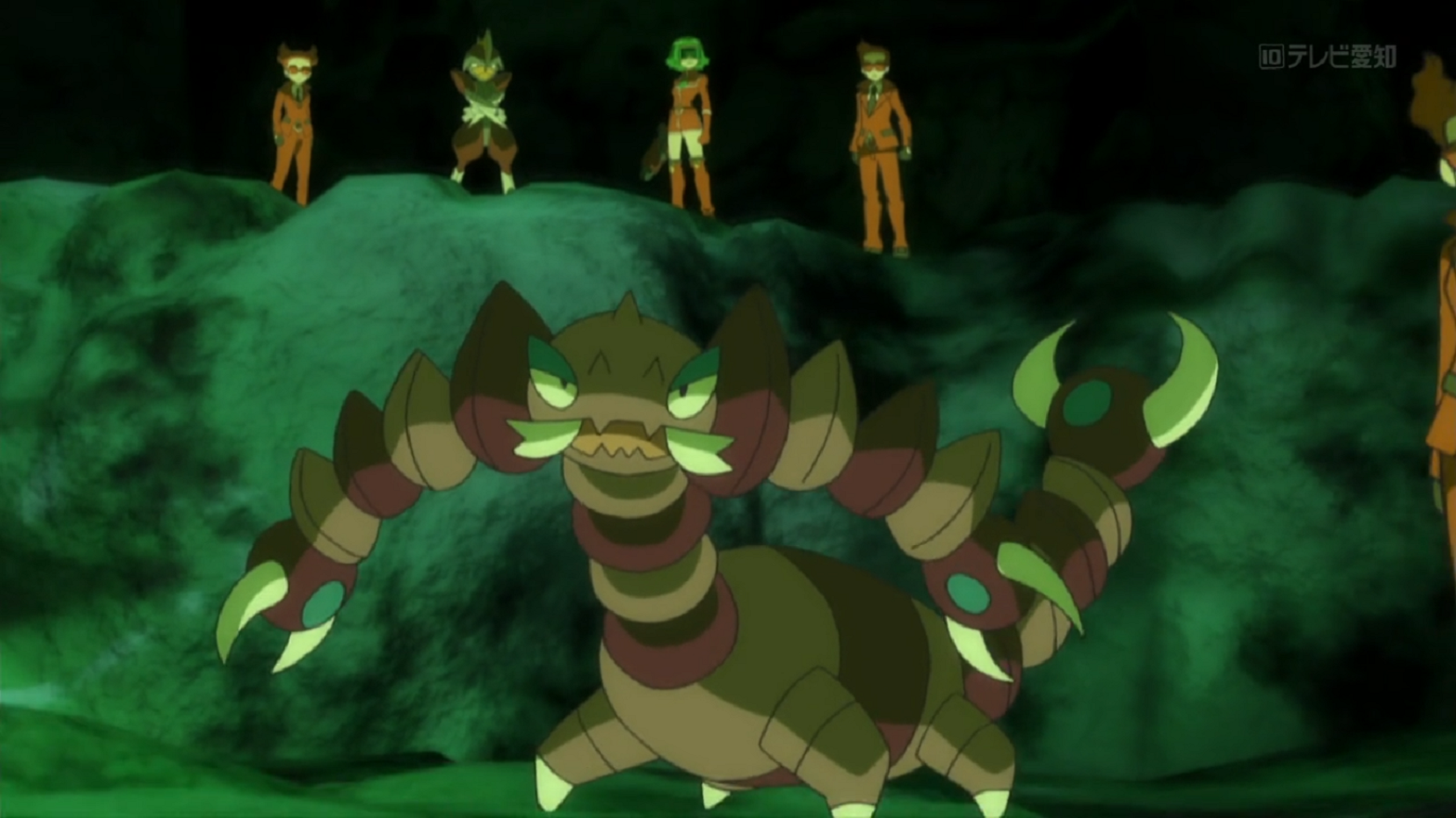 Celosia sent Drapion to pursue Squishy. It was also used in some battles.