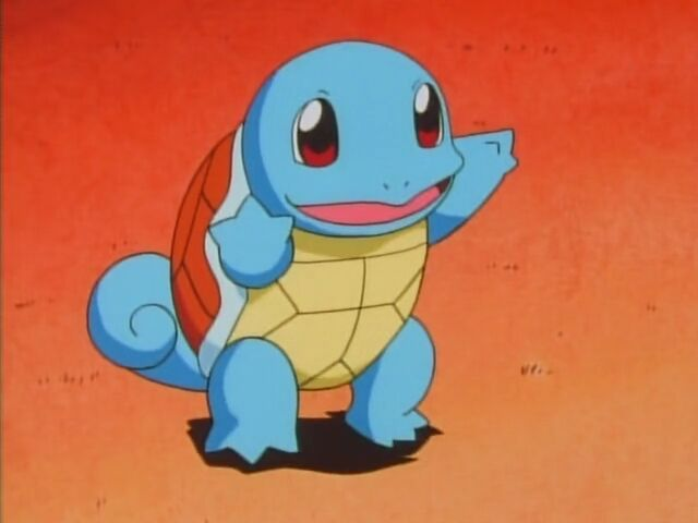 Squirtle was used in battle with Team Rocket.