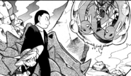 Giovanni protects Yellow from Lance