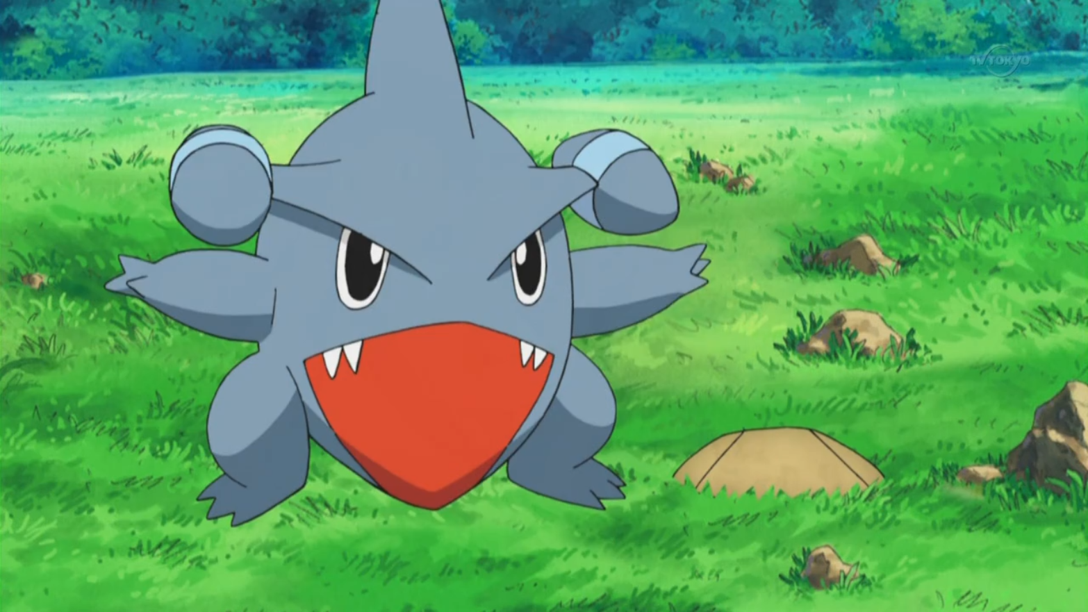 Gible was caught in A Rivalry to Gible on after Ash, Dawn, Brock, and Lyra wanted to catch it.